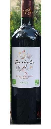 rien à ajouter vin nature