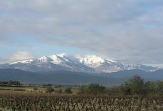 Vue sur les montagnes au domaine Puig-Parahÿ