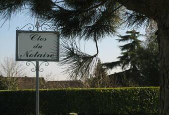 L'entrée du Clos du Notaire