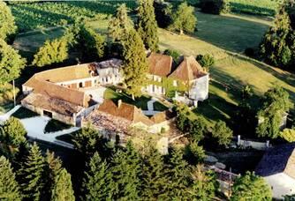 Vue aérienne du Château de La Renaudie