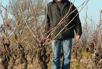Pierre Galinier dans les vignes du domaine Clos canos