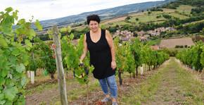 Domaine Annie Sauvat - Annie dans le vignoble