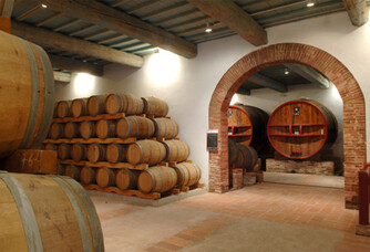 Dom Brial - Les fûts de chêne en cave