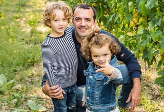Marco Cirese et ses enfants