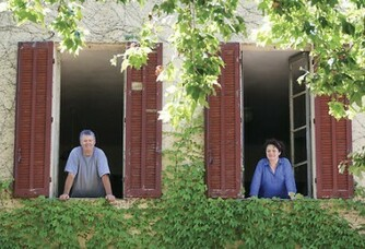 Pascale et Philippe Blancard au Domaine de la Portanière
